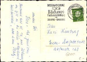Ak Sonderstempel Internationale Bäckerei Fachausstellung 1961