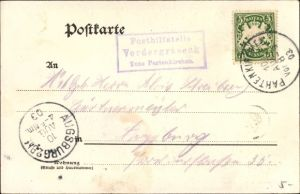Ak Landpoststempel Posthilfstelle Vordergraseck Taxe Partenkirchen