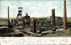 Ak Wanne Herne im Ruhrgebiet, Anlagen der Zeche Pluto, Bergbau