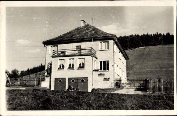 Ak Schleusingerneundorf Nahetal Waldau in Thüringen, HOG Steinbergsblick