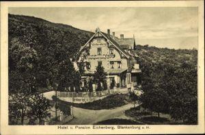Ak Blankenburg am Harz, Hotel und Pension Eichenberg, Inh. A. Rost