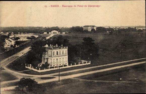Ak Hanoi Tonkin Vietnam, Panorama du Palais du Gouverneur