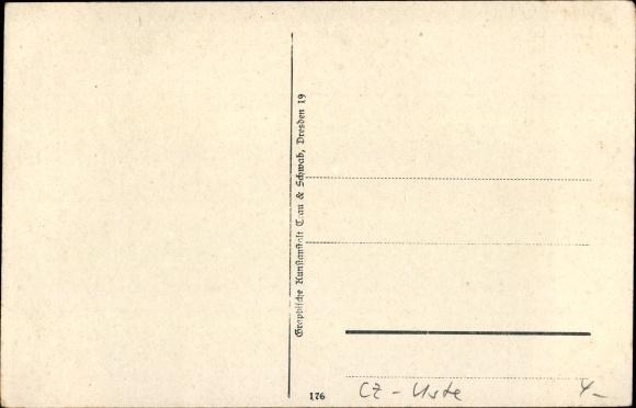 Ak Hřensko Herrnskretschen Elbe Reg. Aussig, Edmundsklamm, Wehr 1