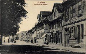 Ak Groß Gerau in Hessen, Darmstädter Straße, Geschäft Heinrich Runkel, Gasthaus zum Löwen