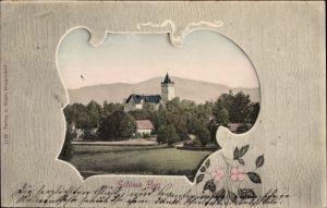 Passepartout Ak Bernried im Kreis Deggendorf Niederbayern, Blick auf Schloss Egg