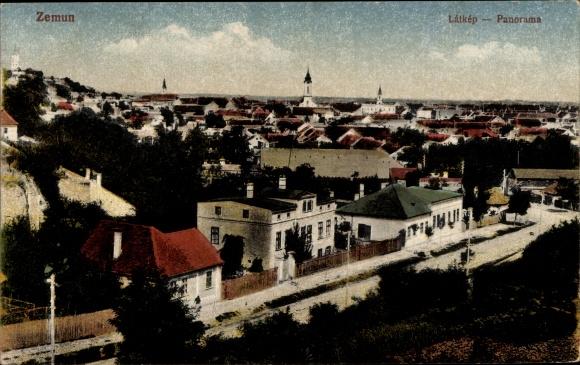 Ak Zemun Semlin Belgrad Beograd Serbien, Panoramaansicht der Stadt