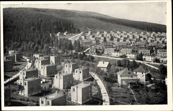 Ak Region Zlin, Batovy kolonie, Wohnsiedlung mit Neubauhäusern
