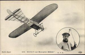 Ak Aviation, Mamet sur Monoplan Bleriot, Flugzeug, Pilot