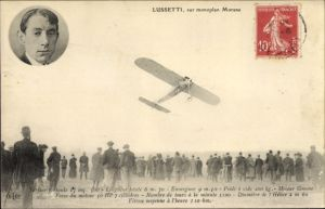 Ak Aviation, Lussetti sur monoplan Morane, Flugzeug, Zuschauermenge