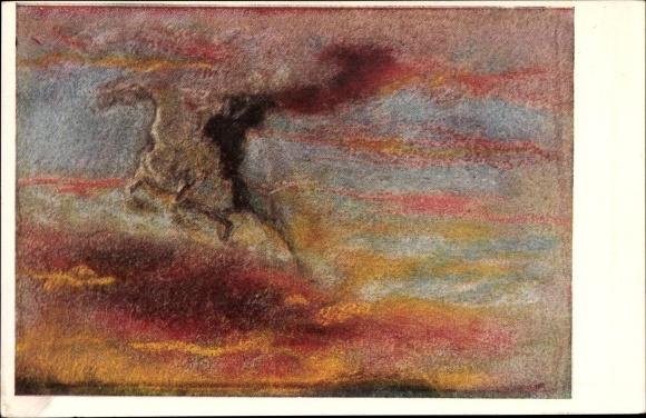 Künstler Ak Welti, Albert, Der Reiter der Höhe