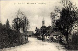 Ak Michelbach Elsass Haut Rhin, Vue de Village, Dorfansicht