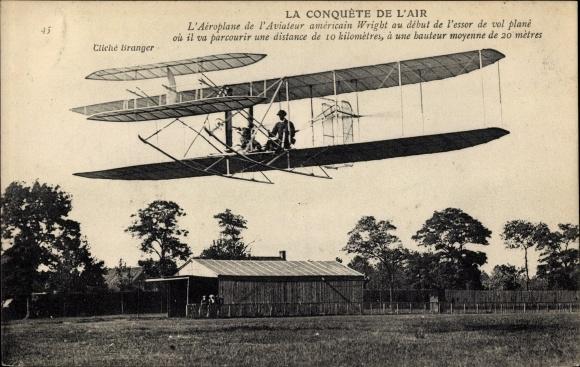 Ak La Conquête de l'Air, Aéroplane de l'Aviateur américain Wilbur Wright, Biplan