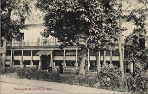 Ak Bloemendaal Nordholland, Hotel Hartenlust, Voorzijde, Außenansicht