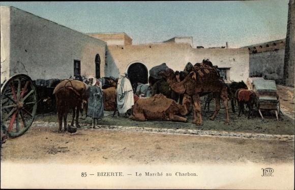 Ak Bizerte Tunesien, Le Marche au Charbon, Kamele
