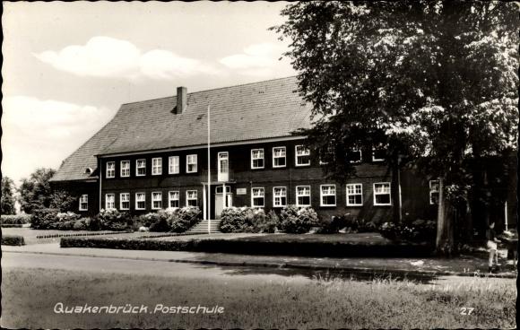 Ak Quakenbrück in Niedersachsen, Blick zur Postschule