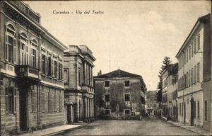Ak Cormons Veneto, Via del Teatro, Straßenpartie