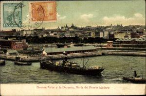 Ak Buenos Aires Argentinien, La Darsena, Norte del Puerto Madero, Holzhafen