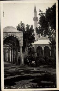 Foto Ak Edirne Türkei, Blick auf die Sultan Selim Moschee, Säulengang