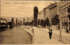 Ak Sarajevo Bosnien Herzegowina, Appelquai, Apelova obala