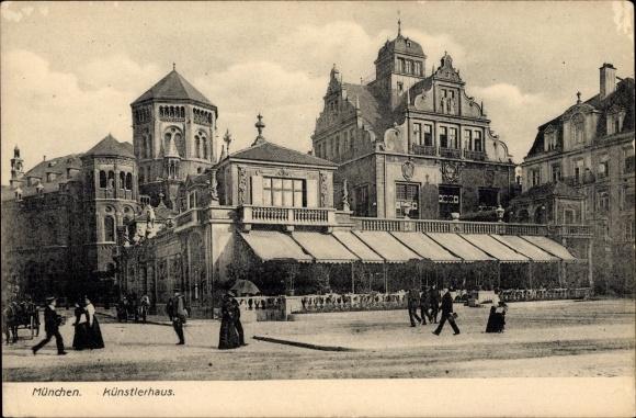 Ak München in Bayern, Partie am Künstlerhaus, Synagoge
