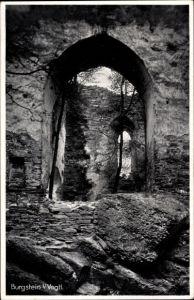 Ak Burgstein Weischlitz im Vogtland, Teilansicht der Ruine