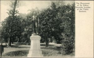 Ak Hongkong China, The Monument of Sir Arhur Kennedy founder of the Public Gardens