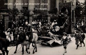 Ak Leipzig in Sachsen, 500 jähriges Jubiläum der Universität, Faustwagen, Festumzug