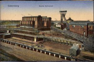 Ak Katernberg Essen im Ruhrgebiet Nordrhein Westfalen, Blick auf Zeche Zollverein