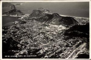 Foto Ak Rio de Janeiro Brasilien, Vista do Corcovado, Panoramablick auf die Stadt