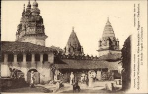 Ak Nagpur Indien, La grande Pagode de Chindwara, Ansicht der Pagode, Catéchistes Missionnaires