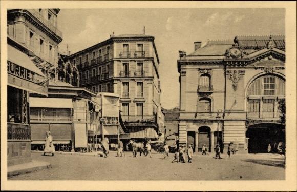 Ak Constantine Algerien, Carrefour de la Place de la Breche
