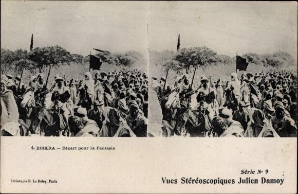 Stereo Ak Biskra Algerien, Depart pour la Fantasia