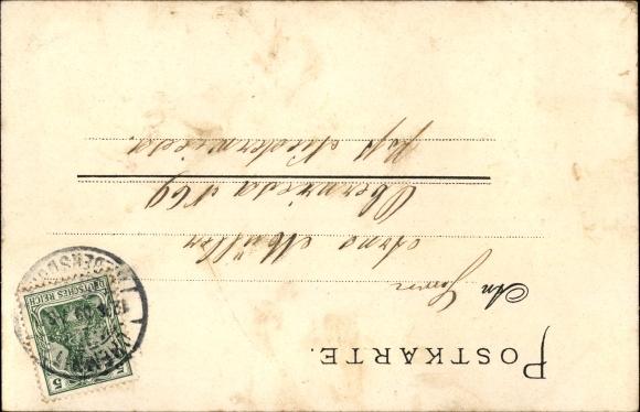 Litho Turnvater Jahn, Wappen, Viktoria mit Siegeskranz, Turnen, Hantel 1