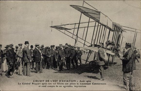 Ak Circuit de l'Est d'Aviation, Aout 1910, Général Picquart, Pilot Lt. Cammermann, Flugzeug