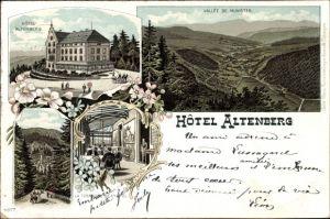 Litho Neubois Gereuth Elsass Bas Rhin, Hotel Altenberg, Vallée de Munster, Hotelterrasse