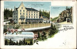 Litho Neubois Gereuth Elsass Bas Rhin, Hotel Altenberg, Schlucht, Münstertal