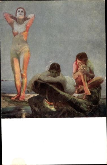 Künstler Ak Klinger, Max, Blaue Stunde, Museum der Bildenden Künste zu Leipzig