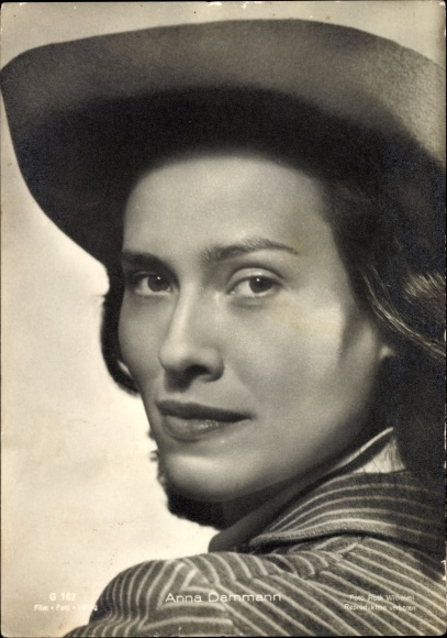 Ak Schauspielerin Anna Dammann, Nacht ohne Abschied, Portrait mit Hut