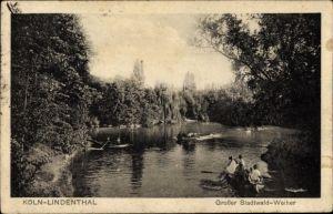 Ak Lindenthal Köln Nordrhein Westfalen, Großer Stadtwald Weiher