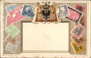 Präge Briefmarken Ak Deutsches Reich, Wappen, Ottmar Zieher
