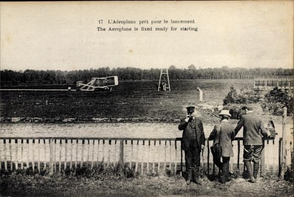 Ak L'Aeroplane pret pour le lancement, Flugzeug beim Start