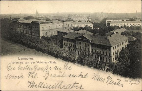 Ak Hannover in Niedersachsen, Panorama von der Waterloo Säule