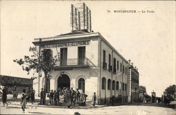Ak Mostaganem Algerien, La Poste, Postes Telegraphes Telephones, Postamt