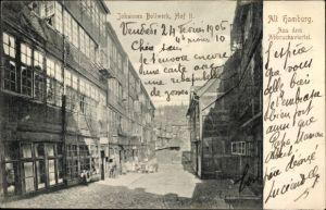 Ak Hamburg Mitte Altstadt, Partie im Johannes Bollwerk, Hof 2, Abbruchviertel