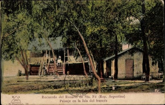Ak Rosario de Santa Fe Argentinien, Paisaje en la Isla del frances