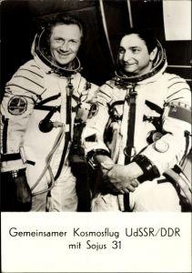 Ak Kosmonauten Sigmund Jähn und Waleri Fjodorowitsch Bykowski, Sojus 31