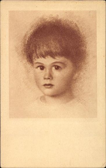 Künstler Ak Schachinger, Walter, Nr. 203, Kinderportrait, kleiner Junge