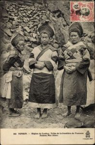 Ak Tonkin Vietnam, Region de Lachay, Tribu de la frontiere du Yunnam, Femme Meo blanc