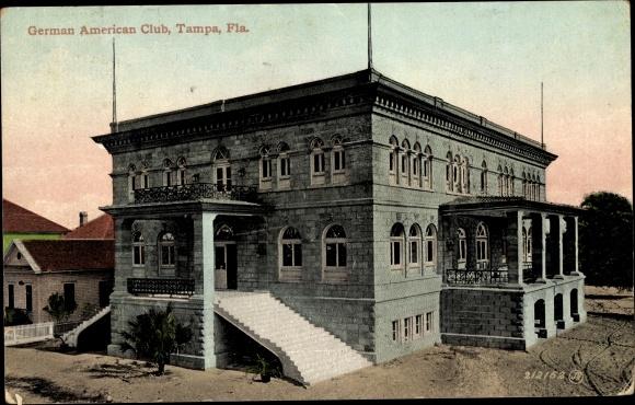 Ak Tampa Florida USA, German American Club, Deutsch Amerikanischer Club
