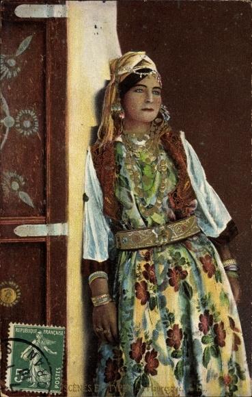 Ak Scenes et Types, Mauresque, Portrait einer jungen Araberin, Maghreb, Levy & Fils L.L.